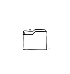 open folder icon folder with documents on white vector image