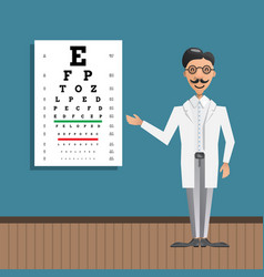 Ophthalmologist eye testing vector