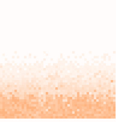 peach pixel geometric background vector image
