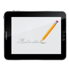 Pencil background back to school on abstract vector image vector image