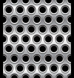Punched perforated metal background metal pattern vector