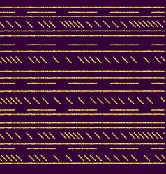 purple pattern background with golden glittering vector image
