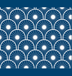 repeating japanese wave pattern vector image