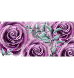 rose flowers watercolor banner poster vector image