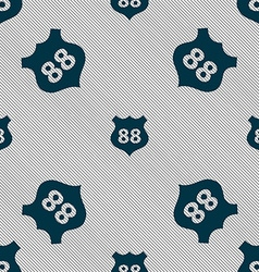 Route 88 highway icon sign Seamless pattern with vector