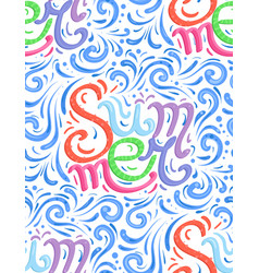 seamless calligraphic pattern with lettering vector image