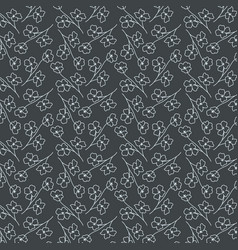 Seamless flowers pattern tranquil green elegant vector