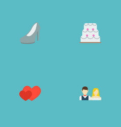 Set of ceremony icons flat style symbols with just vector