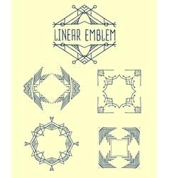 Set of elegant monogram design vector image