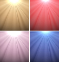 Set of Light Backgrounds vector image