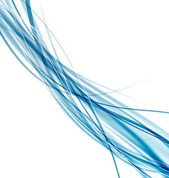 Speed soft smooth abstract blue rapid wave vector image