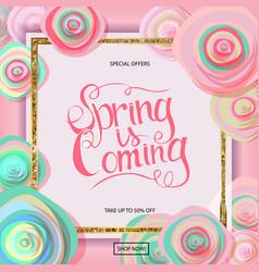 Spring sale banner vector