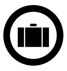 suitcase icon black color simple image vector image