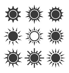 sun icon sets vector image