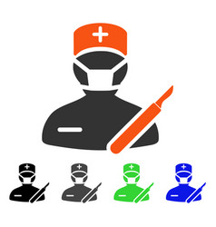 Surgeon flat icon vector
