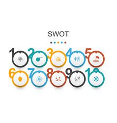 Swot infographic design template strength vector