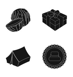 travel service and other web icon in black style vector image