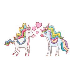 unicorns in love vector image