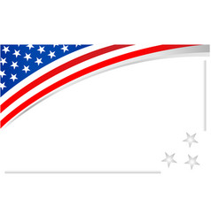 Usa flag frame background banner vector