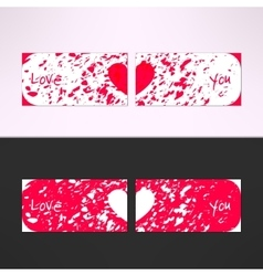 Valentines card with debris grunge vector