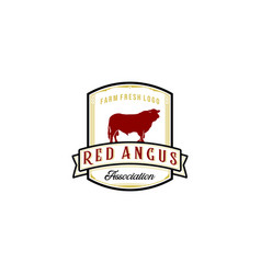 vintage red angus logo design inspirations vector image