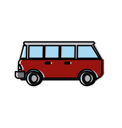 vintage van vehicle vector image