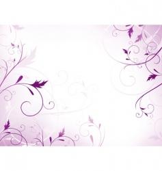 violet floral frame vector image