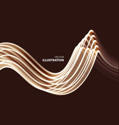 wavy background with motion effect 3d vector image