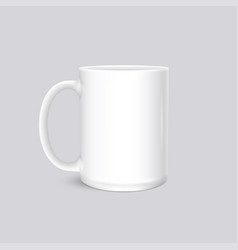 white cup photo realistic isolated on grey vector image