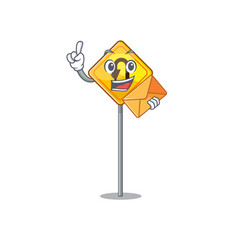 With envelope u turn sign shaped cartoon vector
