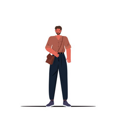 young man in casual trendy clothes male cartoon vector image
