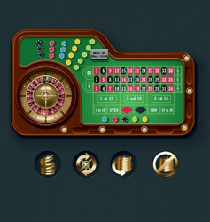 american roulette table layout vector image