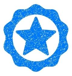 Award Star Seal Grainy Texture Icon vector image vector image