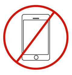 No cell phone sign on white background vector