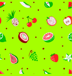tropical exotic fruits seamless pattern vector image vector image