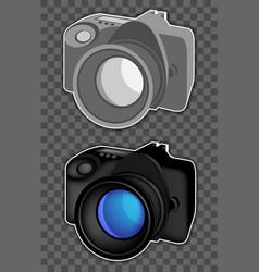 two photo cameras vector image vector image