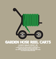 Garden hose reel carts vector