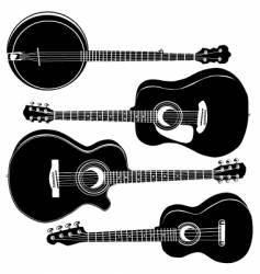 guitar silhouettes vector image