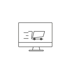 online shopping icon vector image vector image