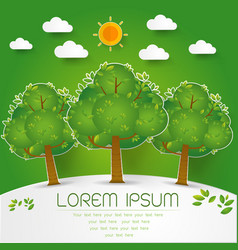template set of green forest trees and bushes pop vector image