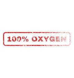 100 percent oxygen rubber stamp vector image vector image