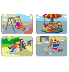 Children in a playground vector image