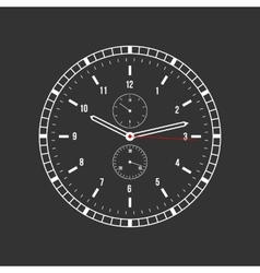 clock on a black background vector image vector image