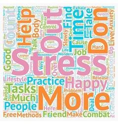 Combat stress practical methods text background vector