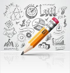 Creative pencil idea vector image