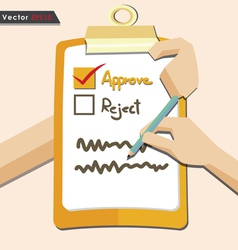 Evaluation approve quality check vector image