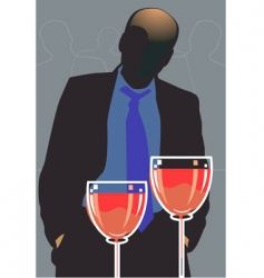 party and wine vector image vector image