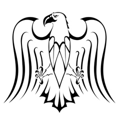 Silhouette of eagle tattoo vector image vector image