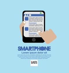 Smartphone in Hand EPS10 vector image vector image