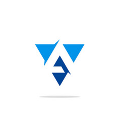 triangle letter a business logo vector image